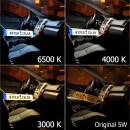 LED Innenraumbeleuchtung Komplettset für Peugeot 807